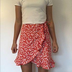 Flower Frilly Skirt